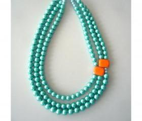 chunky aqua necklace