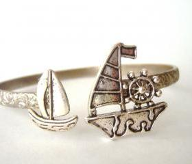 Boat ship nautical bracelet wrap style