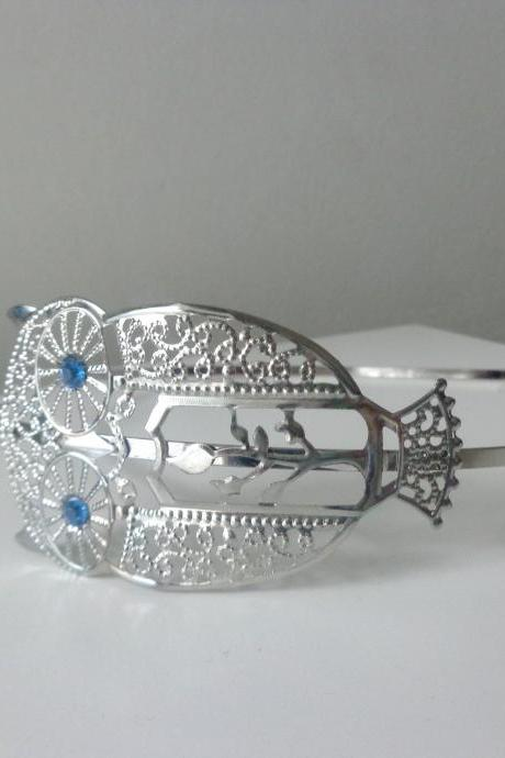 silver owl headband metal hair band