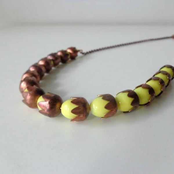 yellow wheat necklace